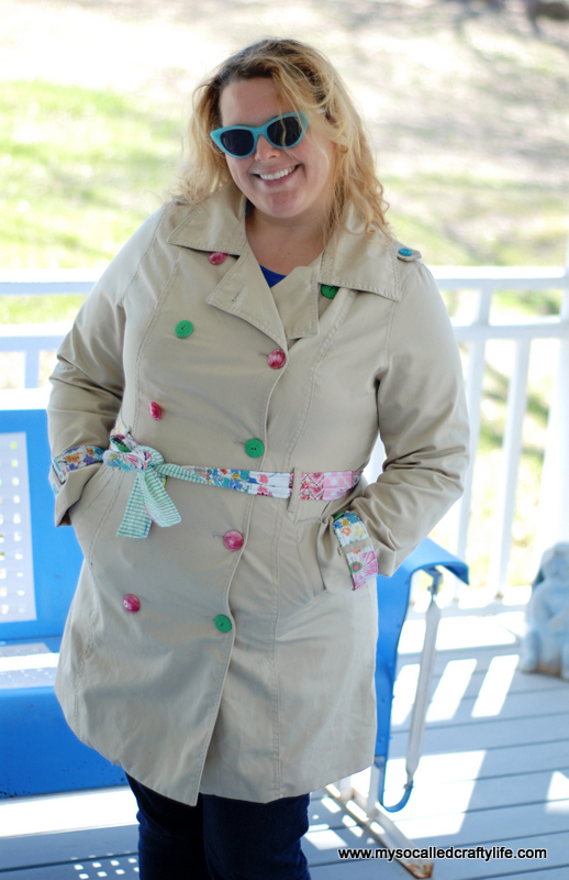vintage inspired mac Upcycled Spring Trench Coat