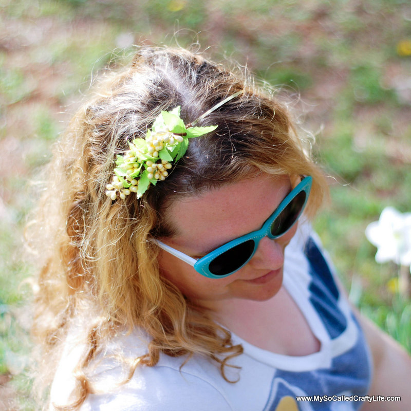 diy floral headband Easy DIY Ten Minute Floral Headband