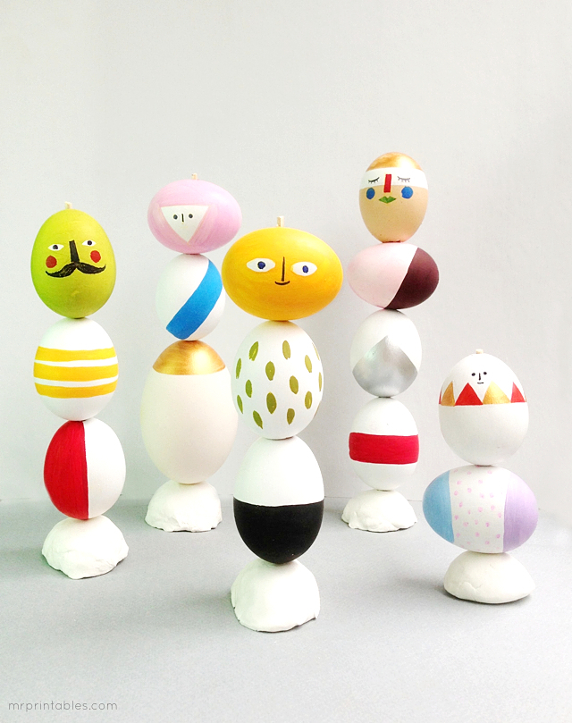 easter craft egg decoration mix match sculptures Fantastic Spring and Easter DIY Round Up