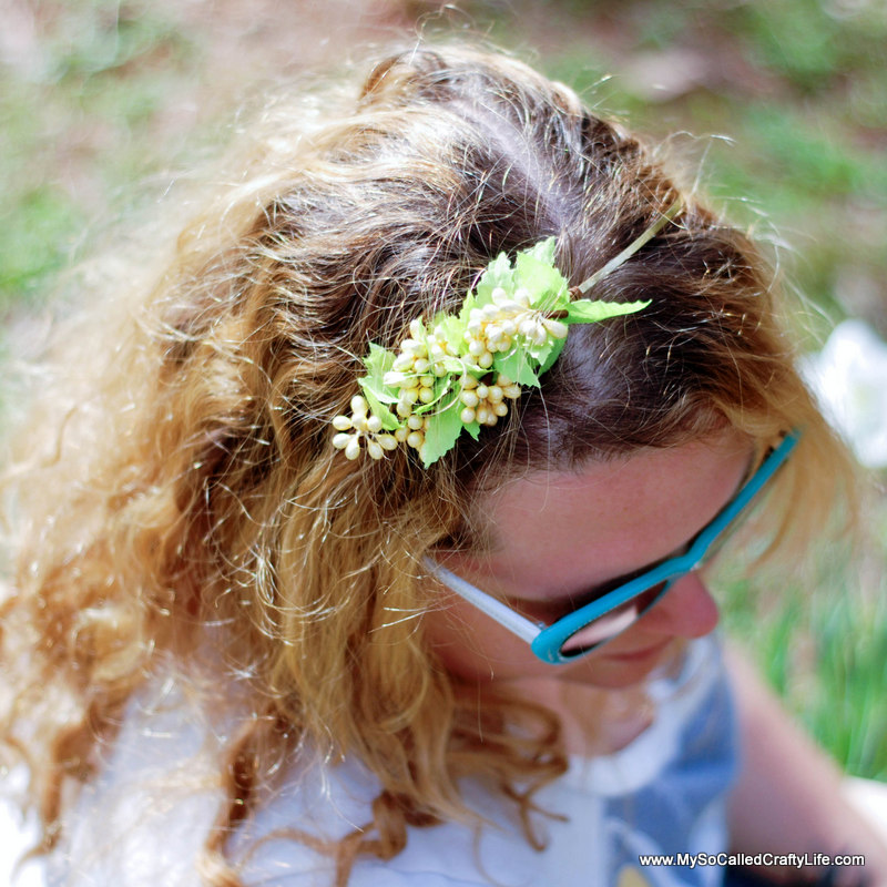 floral headband Easy DIY Ten Minute Floral Headband