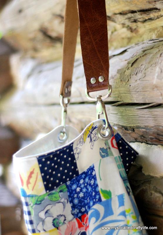 06 DSC 0015 2 DIY Sweet Vintage Scrappy Patchwork Tote