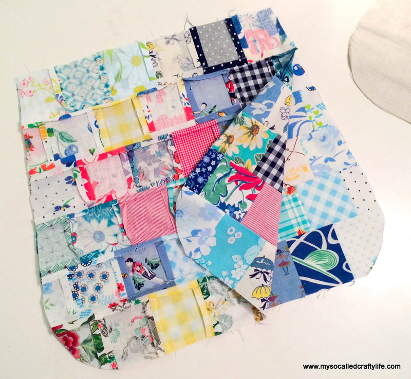 19 photo 4 DIY Sweet Vintage Scrappy Patchwork Tote