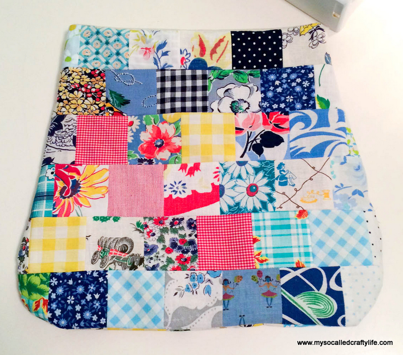 2 photo 2 3 DIY Sweet Vintage Scrappy Patchwork Tote