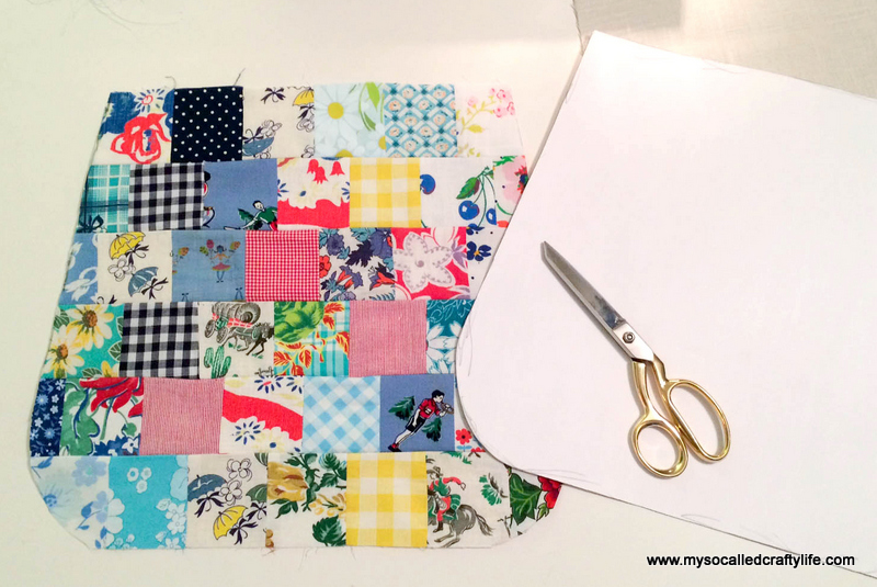 23 photo 3 DIY Sweet Vintage Scrappy Patchwork Tote