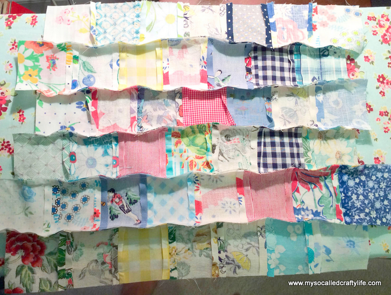 27 photo 2 DIY Sweet Vintage Scrappy Patchwork Tote