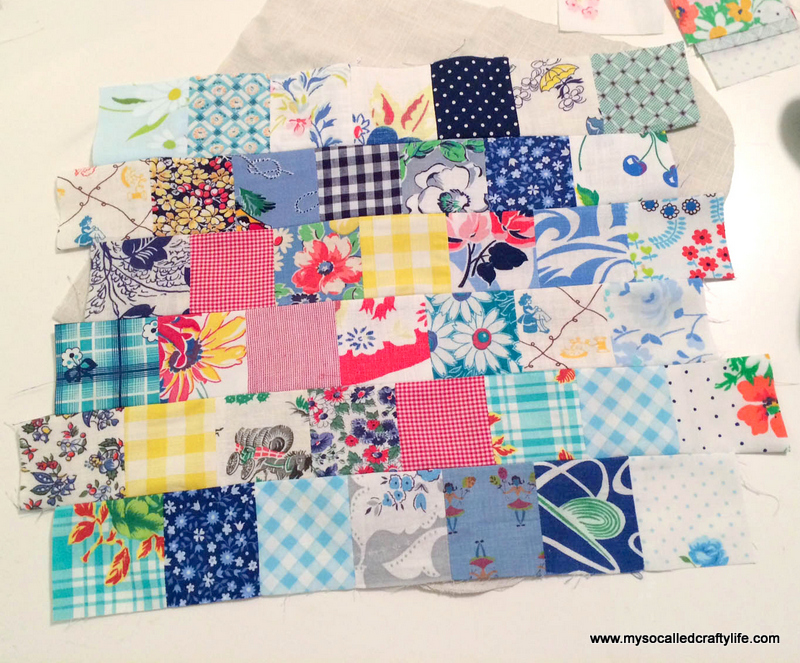 4 photo 1 DIY Sweet Vintage Scrappy Patchwork Tote