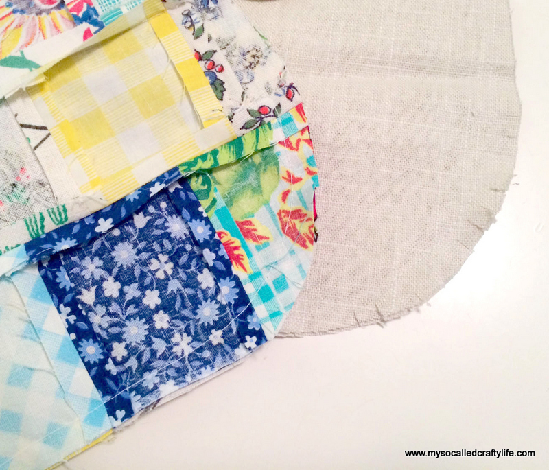 8 photo 1 2 DIY Sweet Vintage Scrappy Patchwork Tote