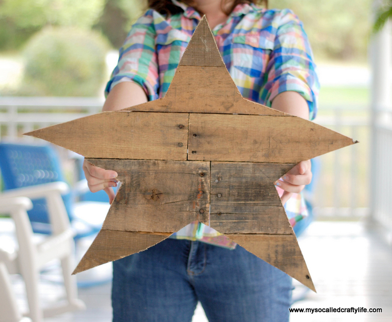 07 DSC 0005 3 DIY Reclaimed Wood Star
