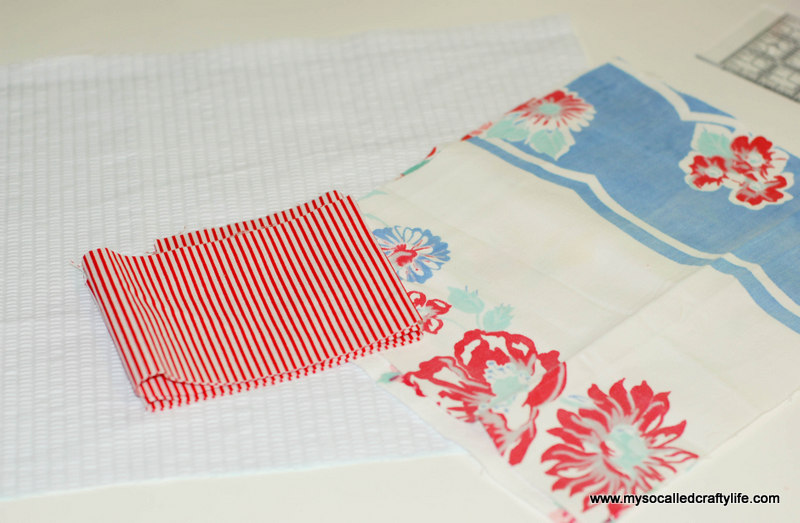112 DIY Upcycled Vintage Tablecloth Apron