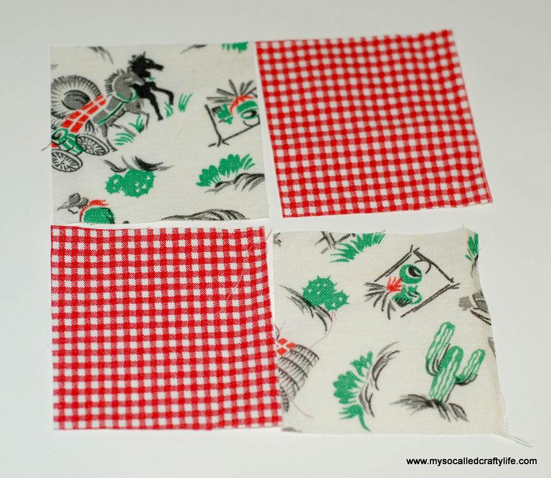 210 DIY Vintage Scrappy Patchwork Fabric Coasters