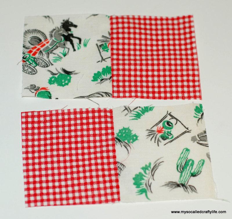 34 DIY Vintage Scrappy Patchwork Fabric Coasters