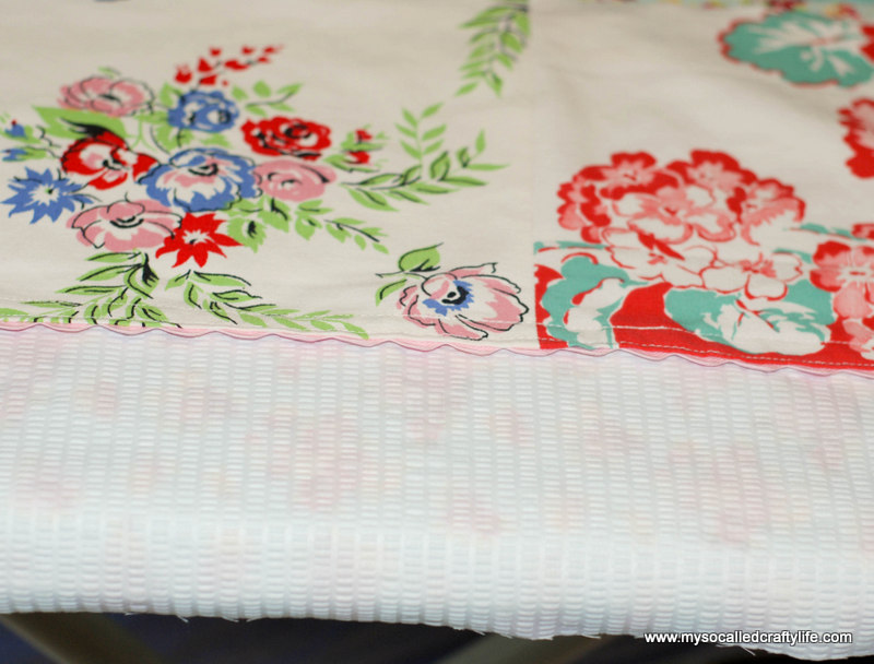 72 DIY Upcycled Vintage Tablecloth Apron