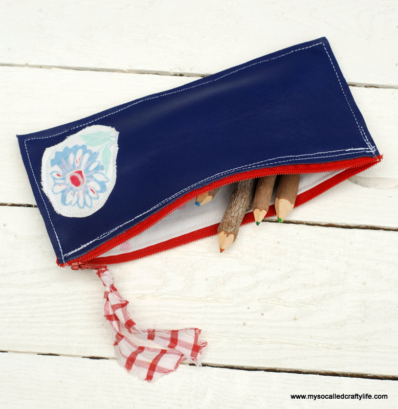 1diy leather pencil case1 DIY Projects