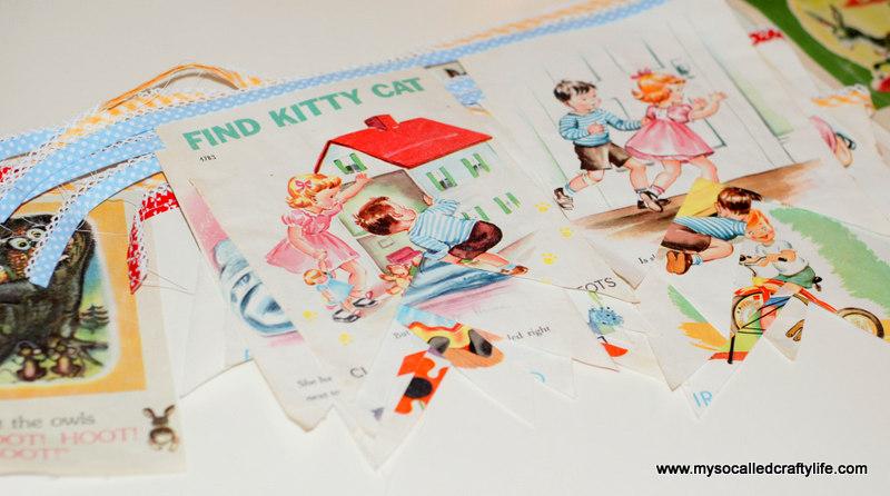 62 DIY Sweet Vintage Upcycled Cloth Baby Book Buntings