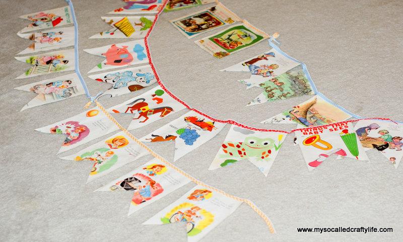72 DIY Sweet Vintage Upcycled Cloth Baby Book Buntings