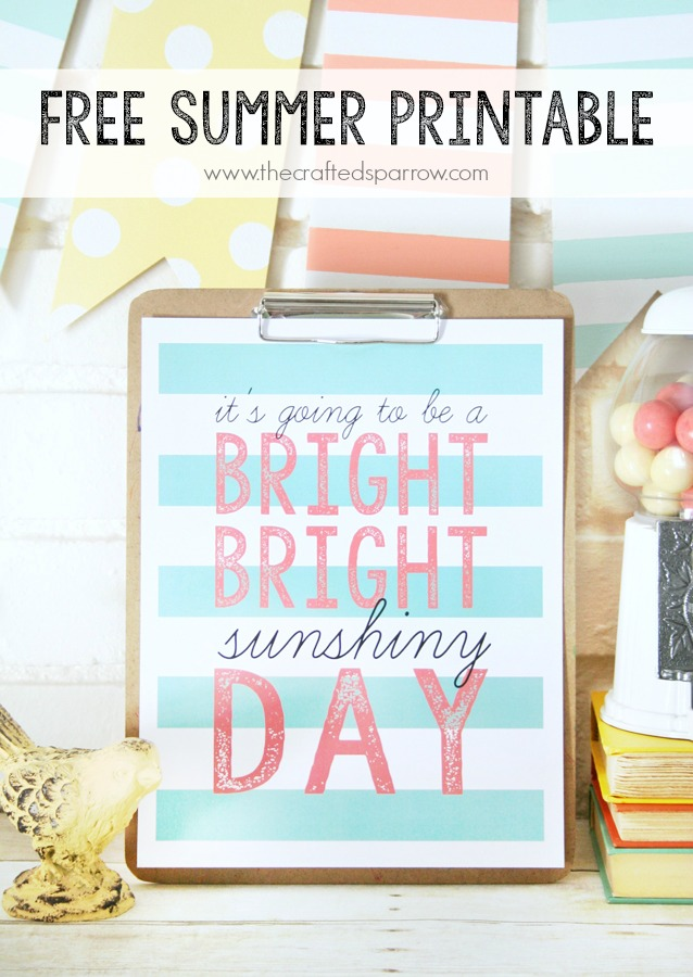 Sunshiny Day Printable 11 Summertime Free Printables Round Up