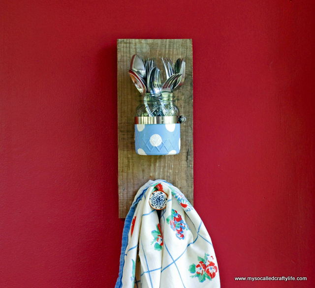 mason jar wall plaque DIY Mason Jar Reclaimed Wood Wall Hanging