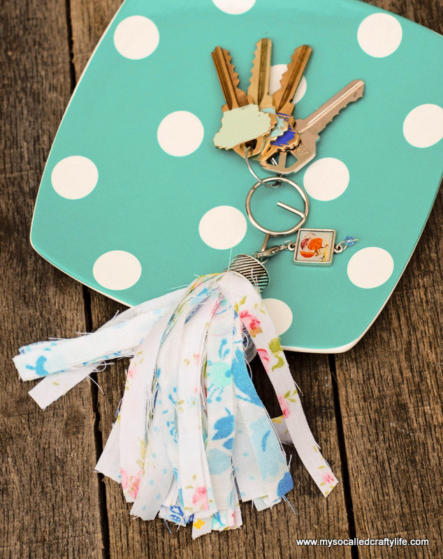 06 DSC 0071 2 Easy Vintage Fabric Tassel Key Chain