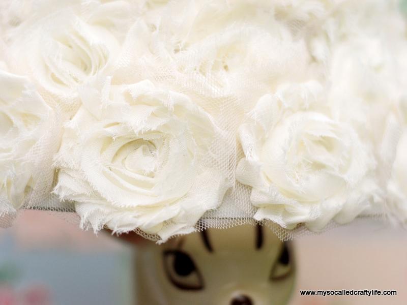 1 DSC 0097 4 Easy DIY Shabby Chiffon Flower Lampshade