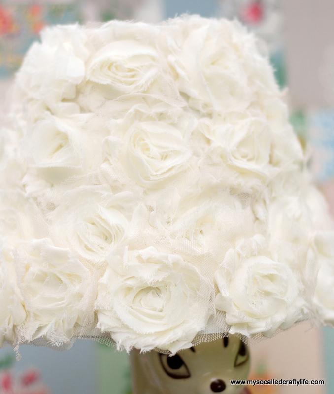 2 DSC 0096 4 Easy DIY Shabby Chiffon Flower Lampshade