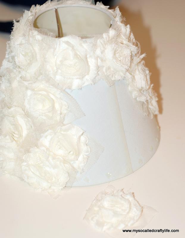 3 DSC 0095 4 Easy DIY Shabby Chiffon Flower Lampshade