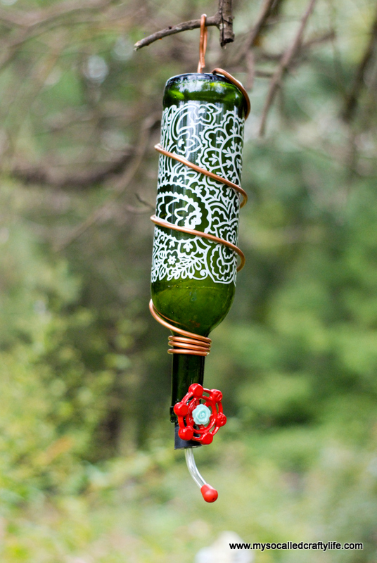 4 DSC 0169 Protea Wines Art Blossoms & DIY Wine Bottle Hummingbird Feeder