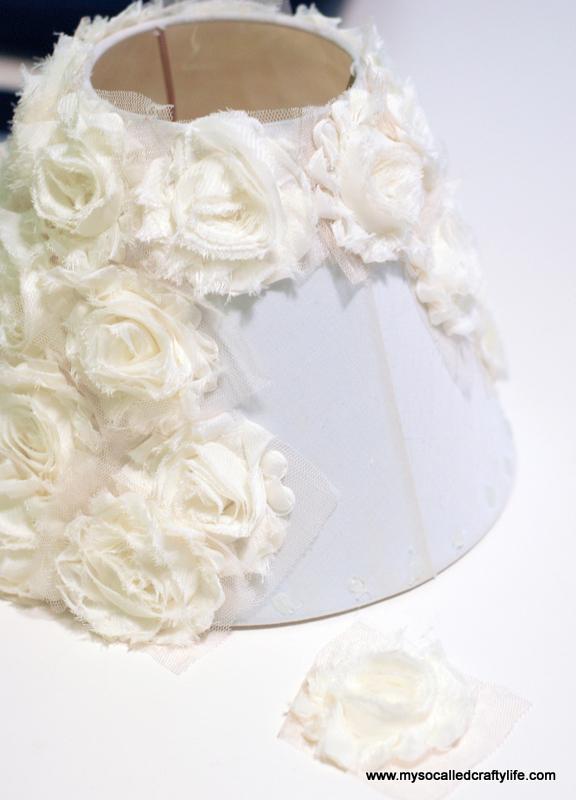 5 DSC 0094 4 Easy DIY Shabby Chiffon Flower Lampshade