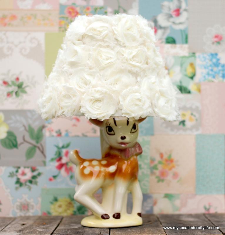 6 DSC 0093 5 Easy DIY Shabby Chiffon Flower Lampshade