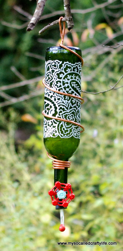 7 DSC 0163 Protea Wines Art Blossoms & DIY Wine Bottle Hummingbird Feeder