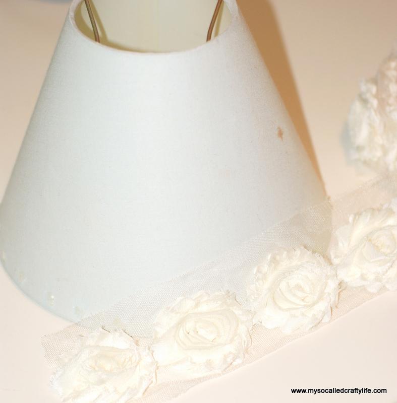 8 DSC 0092 4 Easy DIY Shabby Chiffon Flower Lampshade