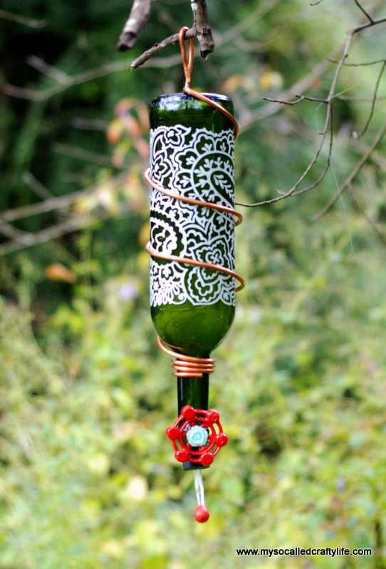 8 DSC 0161 Protea Wines Art Blossoms & DIY Wine Bottle Hummingbird Feeder