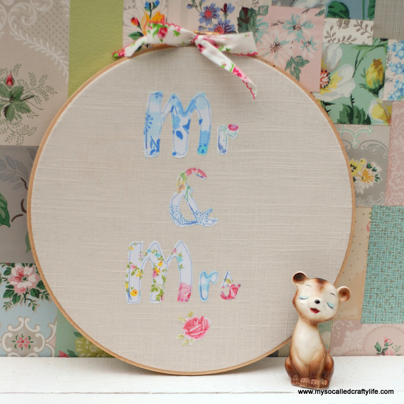 02 DSC 0037 3 DIY Vintage Fabric Patchy Personalized Hoop Art