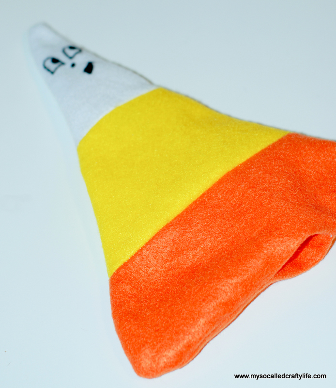 14 DSC 0121 2 DIY Halloween Felt Cute Candy Corn Plushie