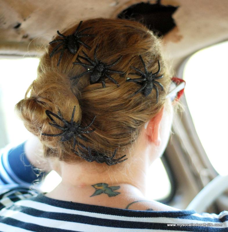 6 DSC 0193 Five Minute DIY Halloween Spider Hair Clips
