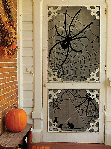 spider lace window panel boJxUD lgn Halloween DIY Round Up  October 2014