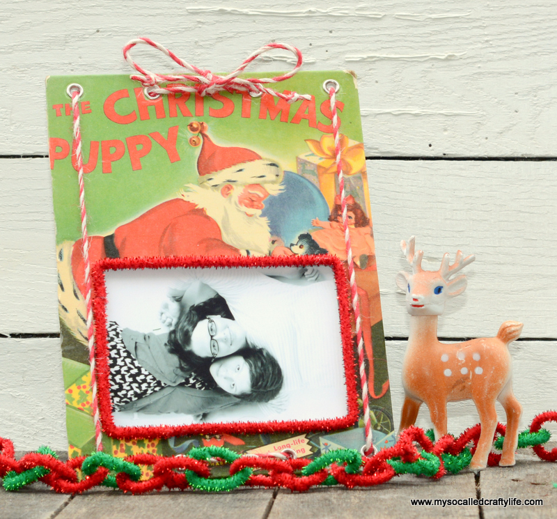 04 DSC 0134 DIY Upcycled Childrens Christmas Frame