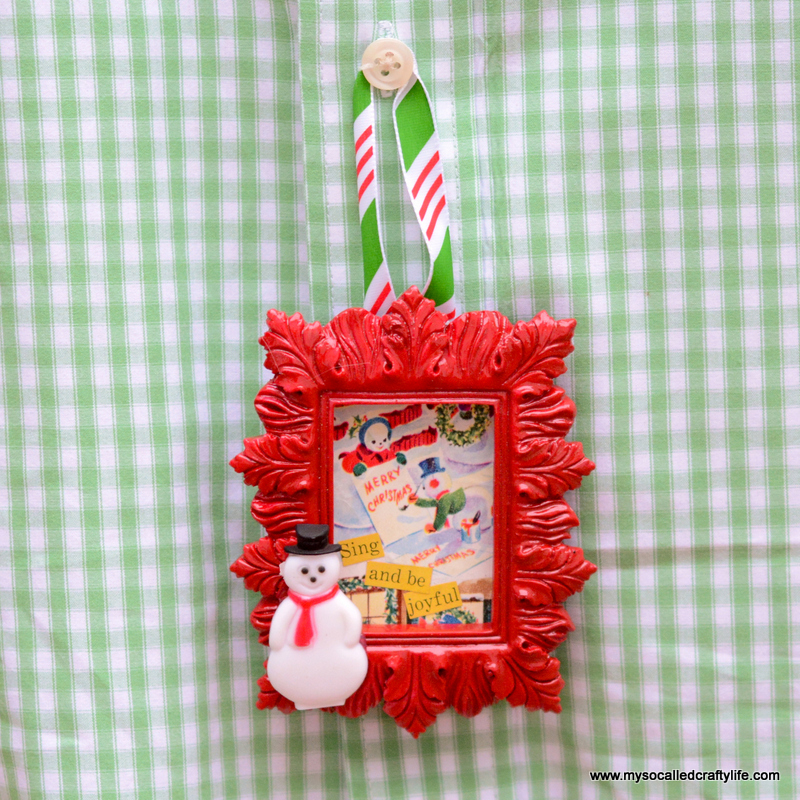 04 DSC 0499 DIY Mini Framed Vintage Christmas Paper Ornaments
