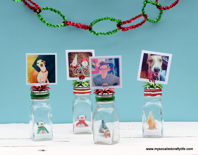 13 DSC 0193 DIY Salt Shaker Christmas Photo Holders