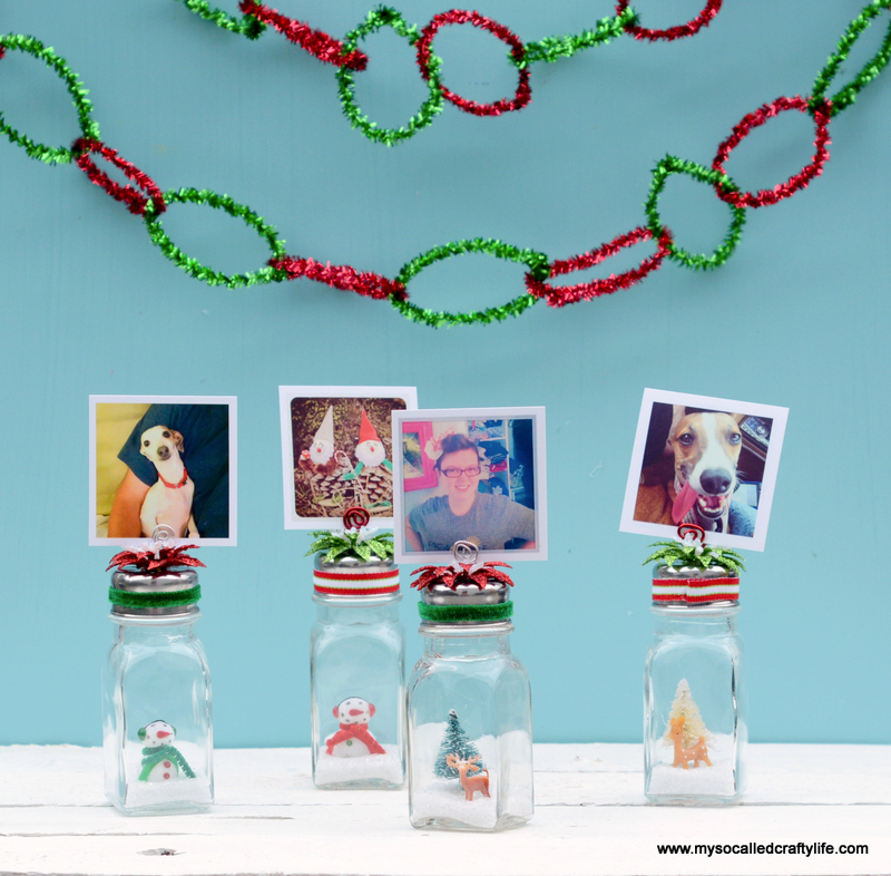14 DSC 0191 DIY Salt Shaker Christmas Photo Holders
