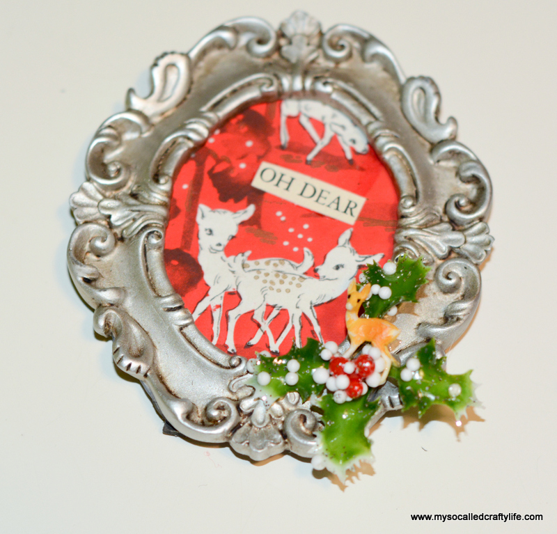 14 DSC 0484 DIY Mini Framed Vintage Christmas Paper Ornaments