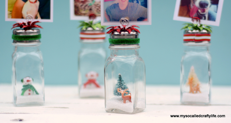15 DSC 0196 DIY Salt Shaker Christmas Photo Holders