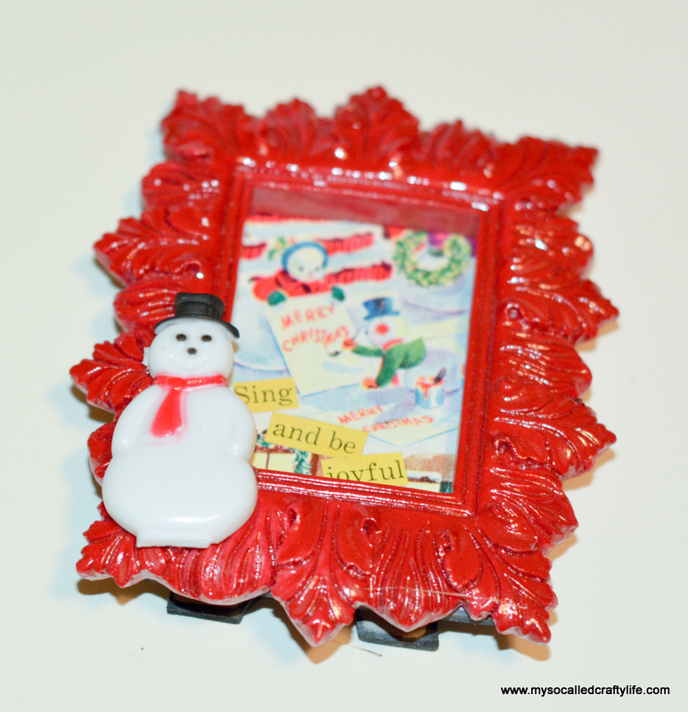15 DSC 0485 DIY Mini Framed Vintage Christmas Paper Ornaments