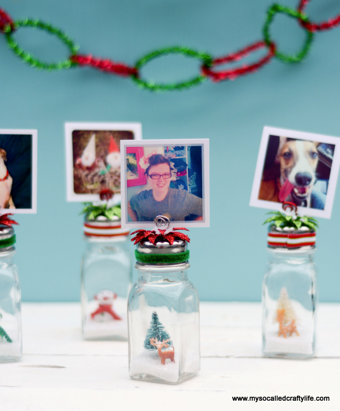 16 DSC 0198 DIY Salt Shaker Christmas Photo Holders