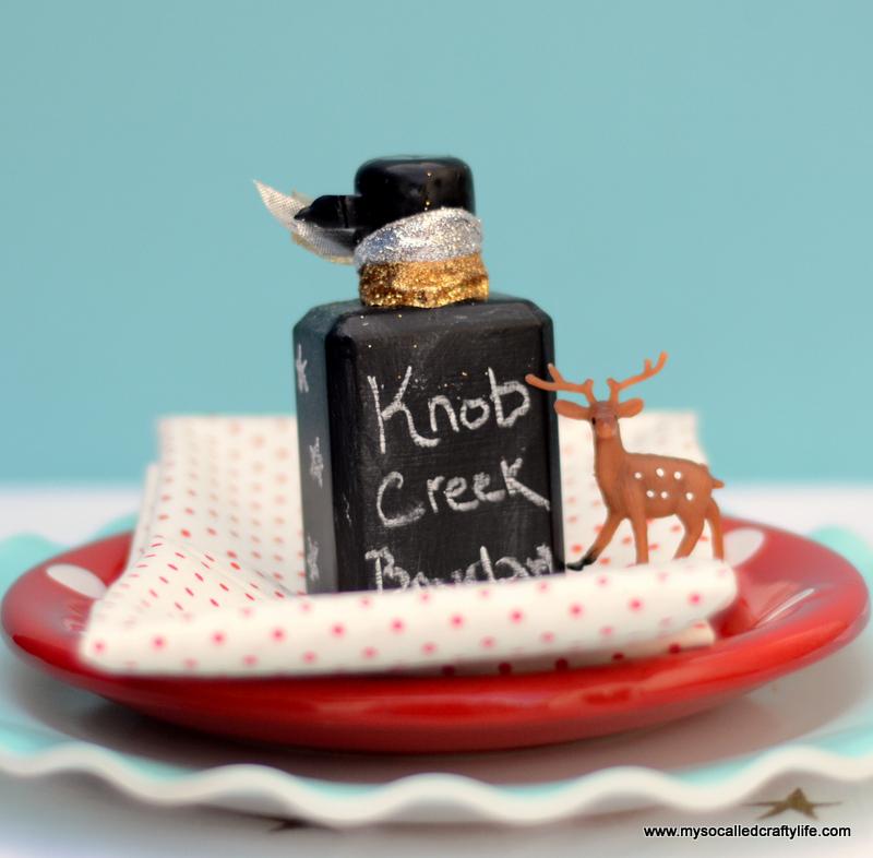02 DSC 1147 Easy Chalkboard Mini Liquor Bottle Favor Place Cards