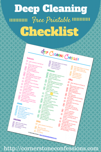 Deep Cleaning 1 333x500 Get Organized in 2015 Ten Free Printables!