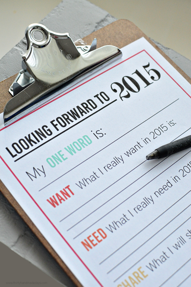 newyearresolutions2015 Get Organized in 2015 Ten Free Printables!