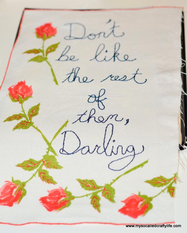 01 DSC 1439 DIY Embroidered Vintage Linen Canvas Art