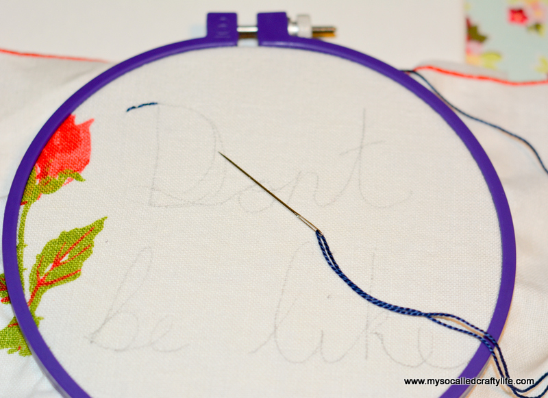04 DSC 1438 DIY Embroidered Vintage Linen Canvas Art