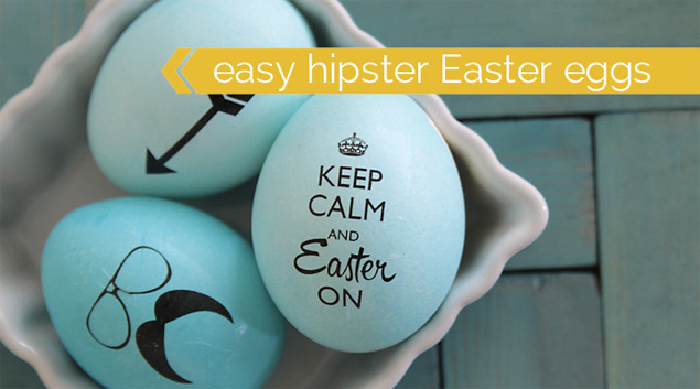 Hipster Easter Eggs Craft Round Ups  Easter DIYs to Try