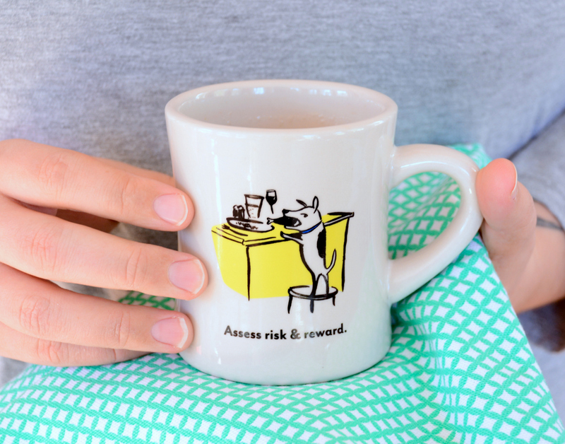 09 DSC 2015 Bad Dog Wisdom and Video Kitty Mugs, an Uncommon Goods Review
